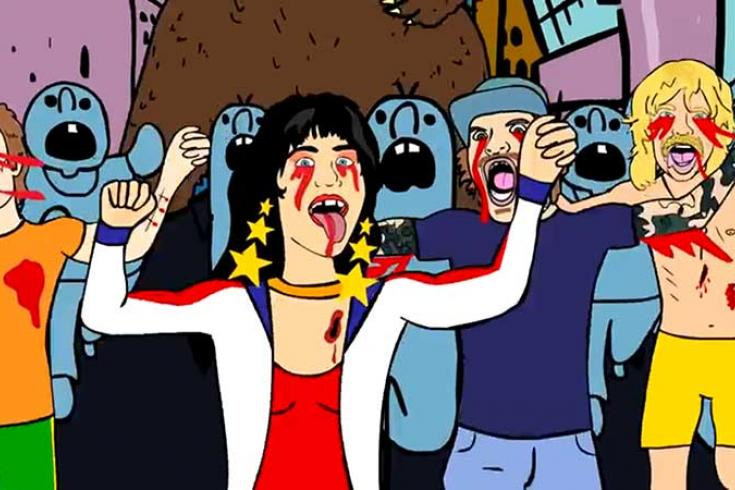 Surfbort & Butthole Surfers' Gibby Haynes get animated in new video