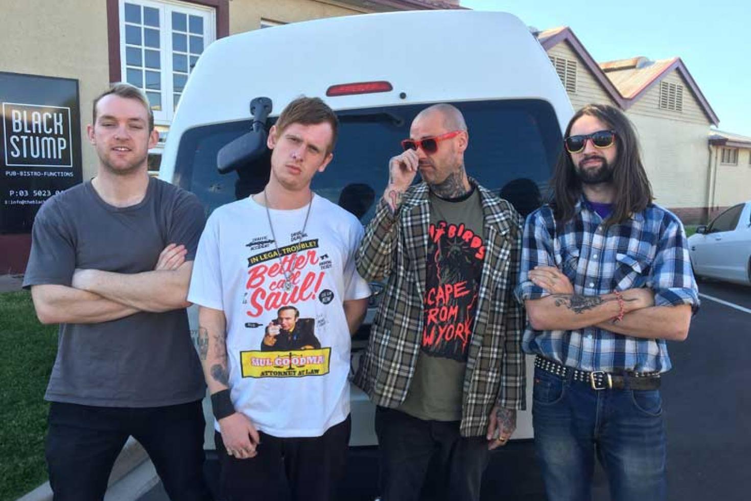 Blind Man Death Stare announces Australian Tour with Trophy Knives