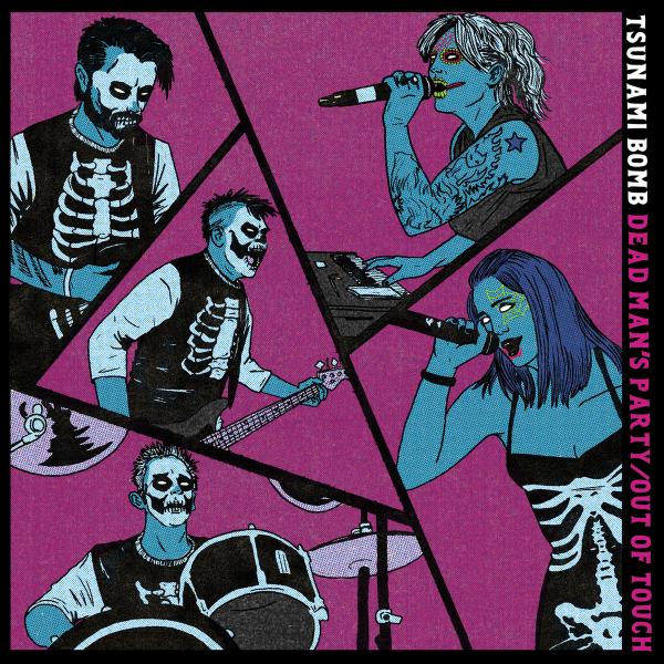 """Tsunami Bomb Dead Man's Party/Out Of Touch 7"""" Punk Rock Theory"""