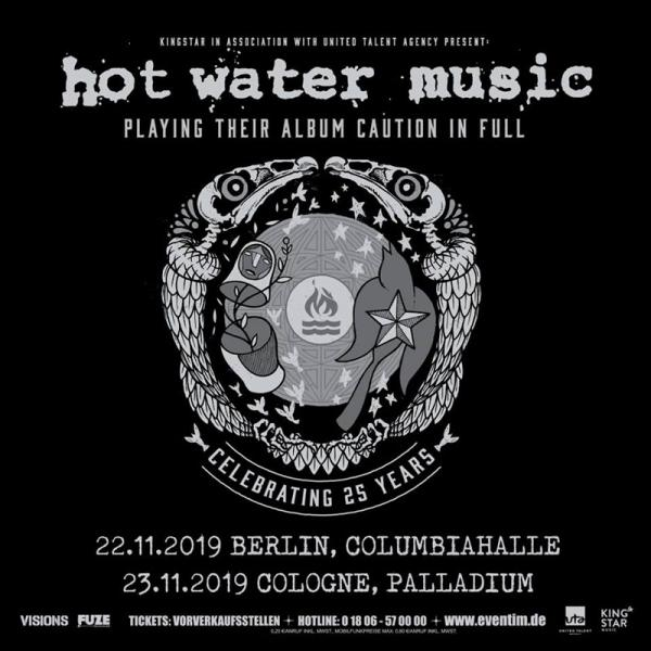 Hot Water Music announce 25th anniversary shows in 2019