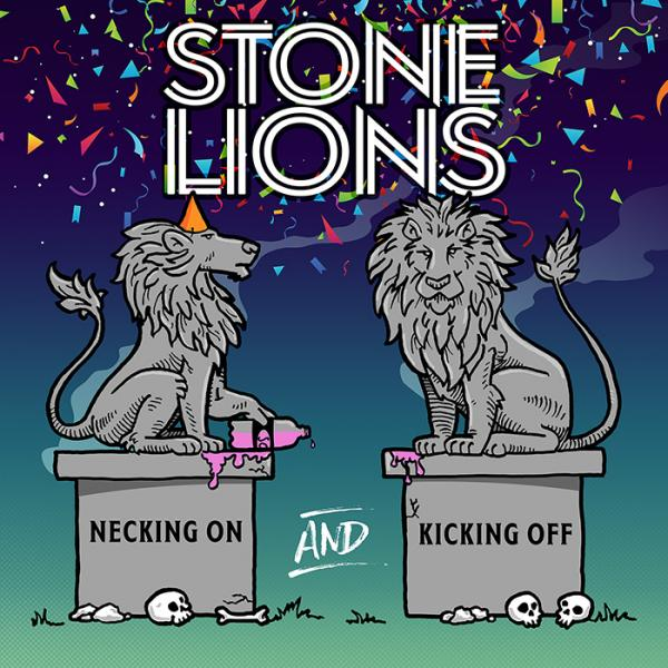 Stone Lions Necking On And Kicking Off Punk Rock Theory